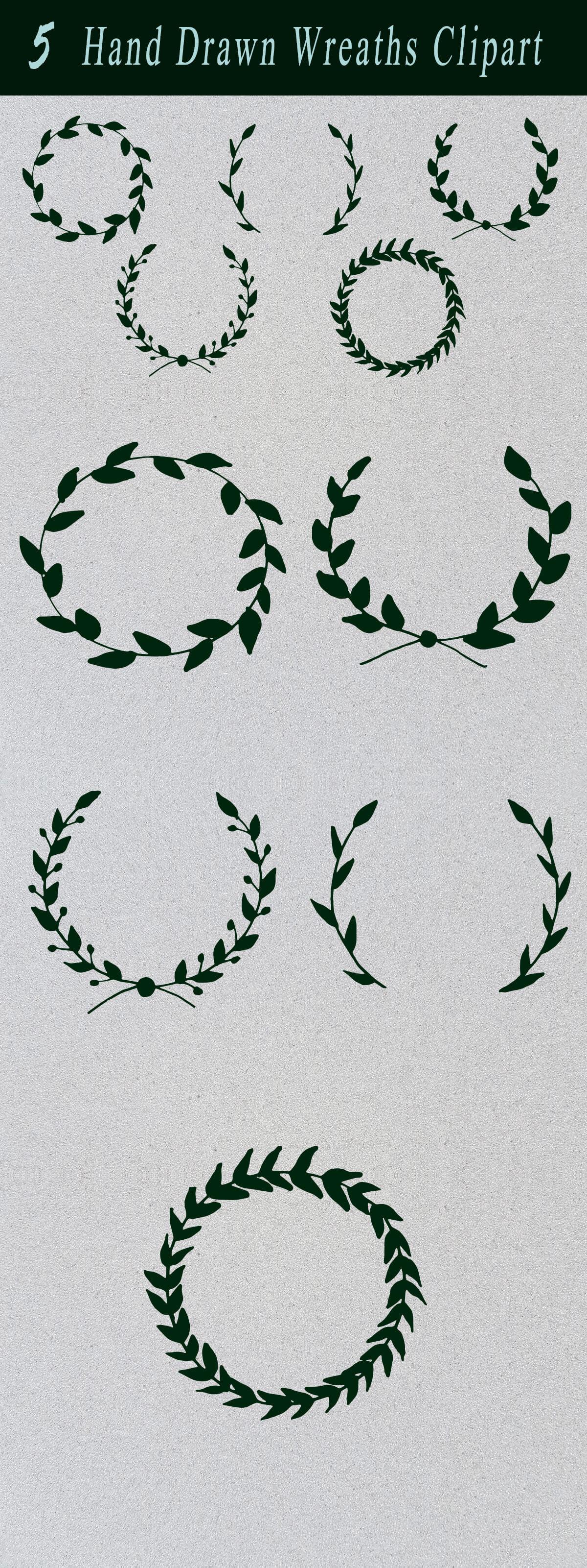 Free Handmade Wreaths Clipart
