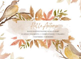 Free Autumn Watercolor Cliparts