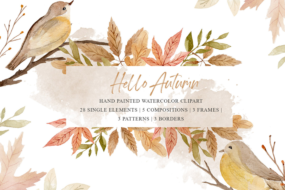 Free Autumn Watercolor Cliparts