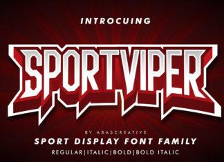 Free Sportviper Display Font