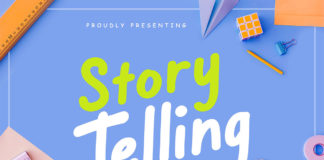 Free Story Telling Display Font