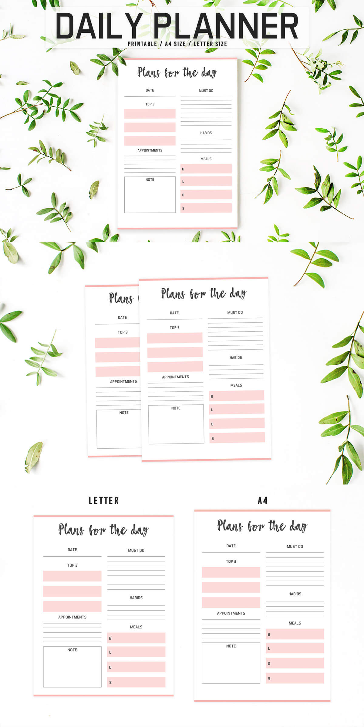 Colorful Daily Planner Printable