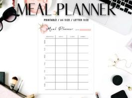 Free Floral Meal Planner Template V2