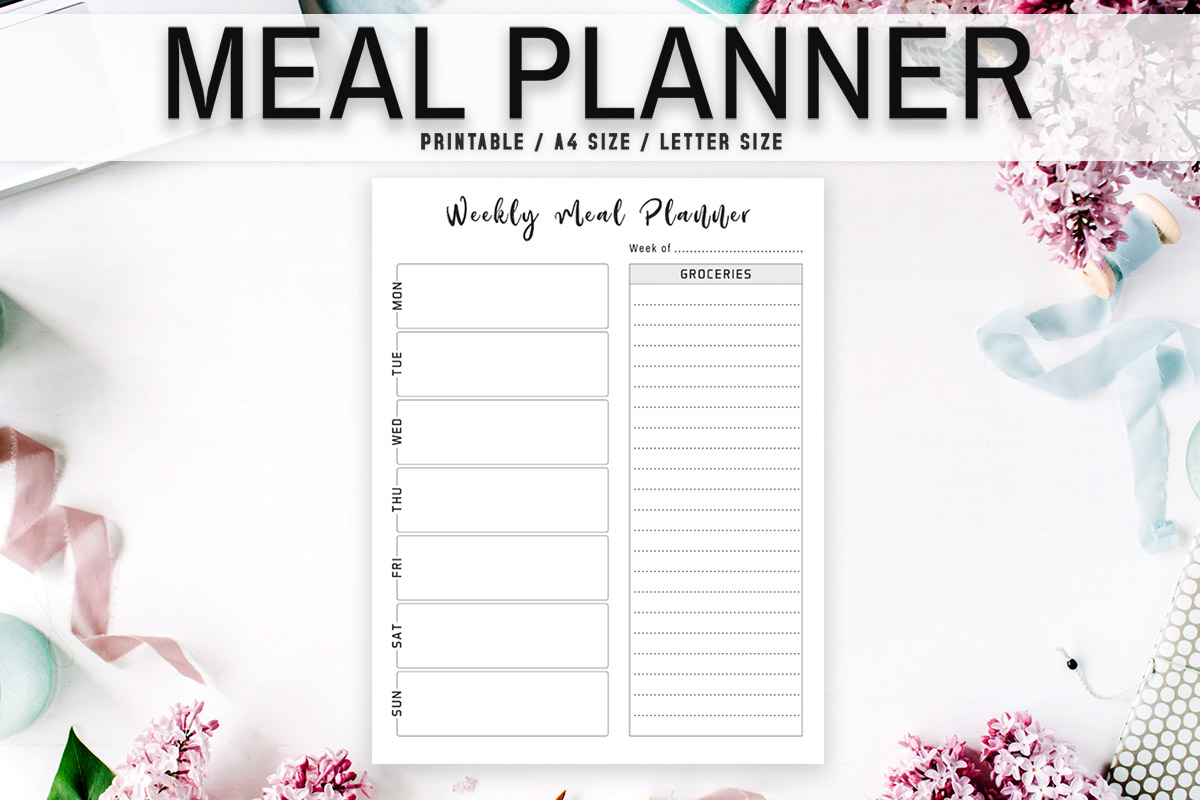 Free Minimal Meal Planner Template