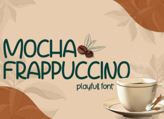 Free Mocha Frappuccino Playfull Font