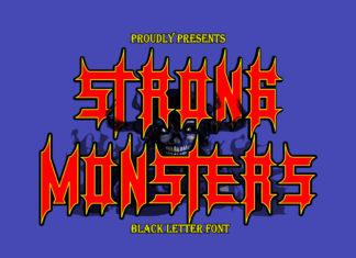 Free Monsters Blackletter Font
