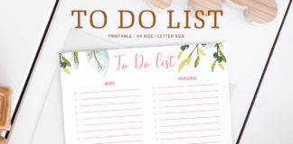 Free Artistic To Do List Printable Template V2