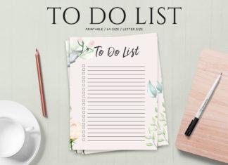 Free To Do List Printable Template