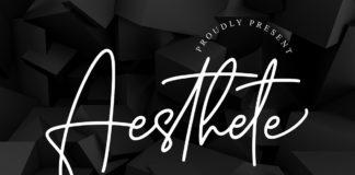 Free Aesthete Signature Font