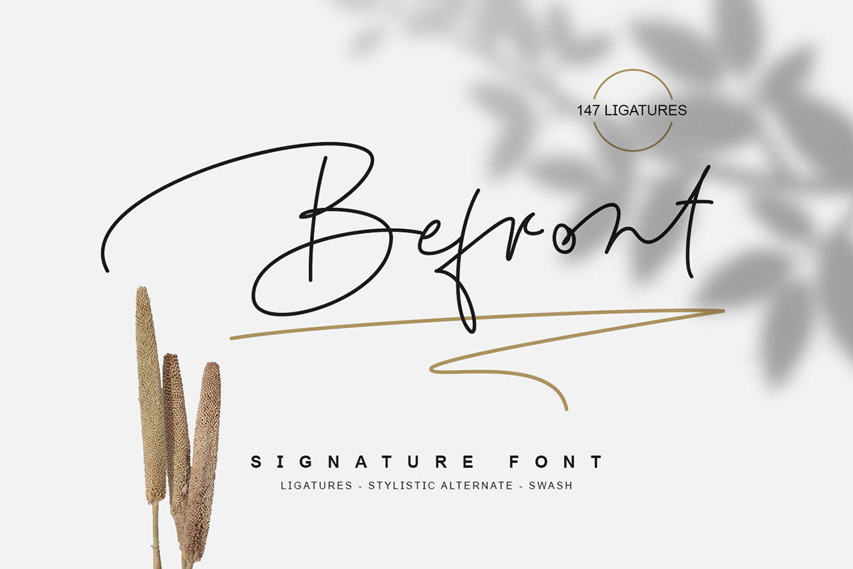 Free Befront Signature Font