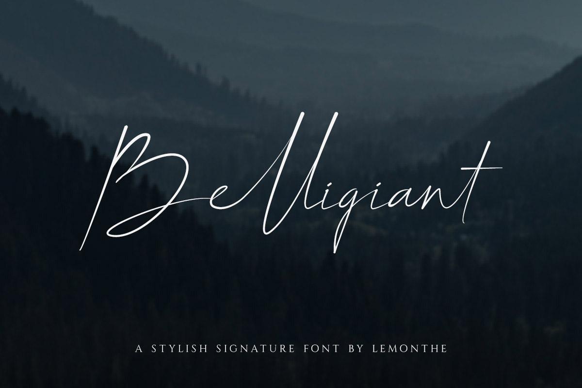 Free Belligiant Signature Font