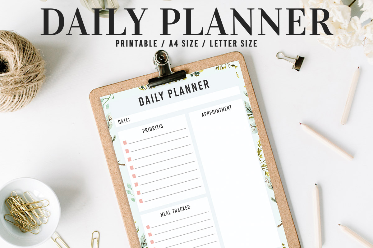 Free Floral Daily Planner Printable V2