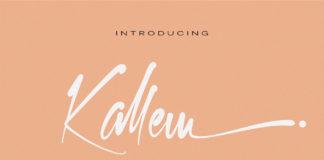 Free Kallem Calligraphy Font