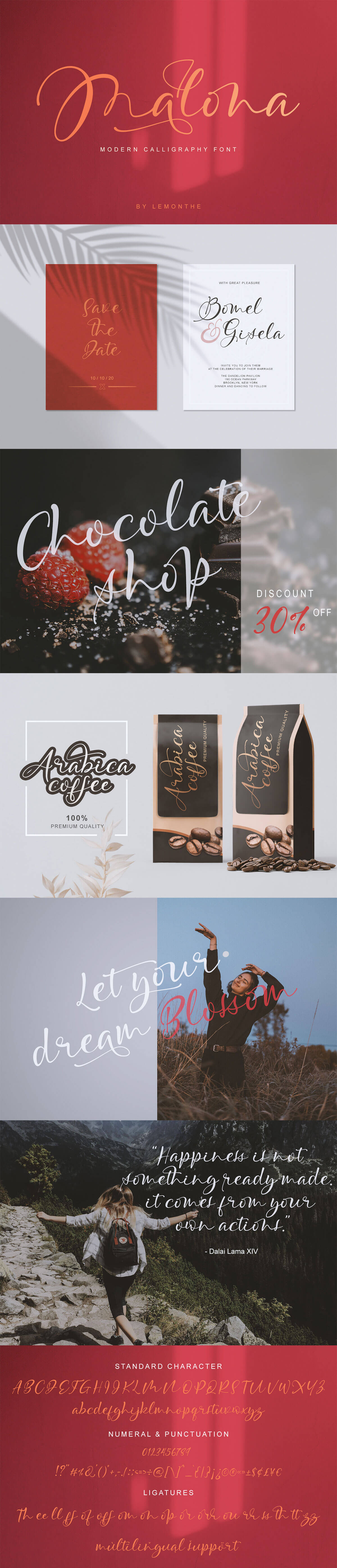 Free Malona Calligraphy Font