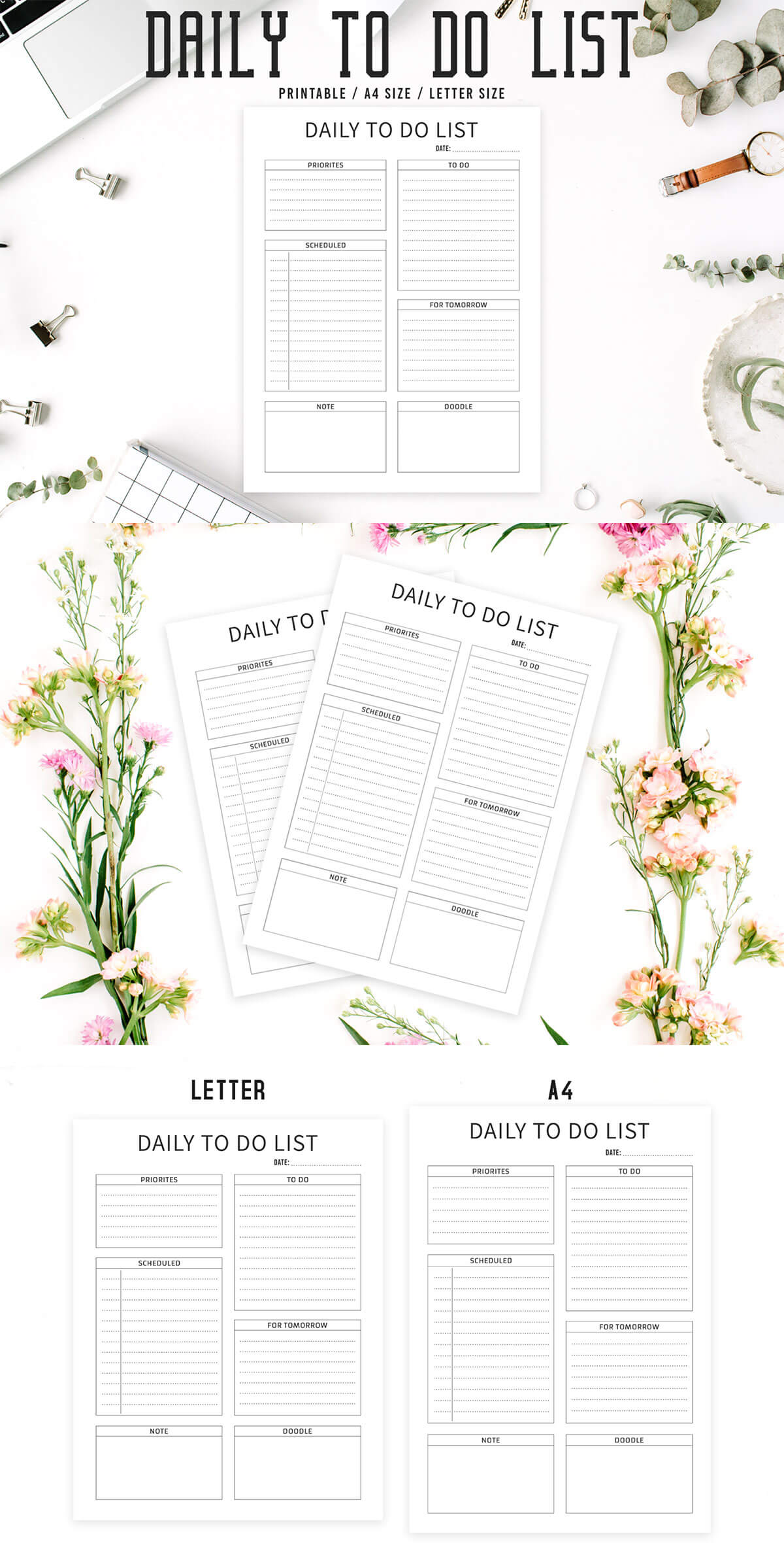 Free Minimal To Do List Printable V2