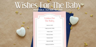 Free Modern Wishes For The Baby Printable V3
