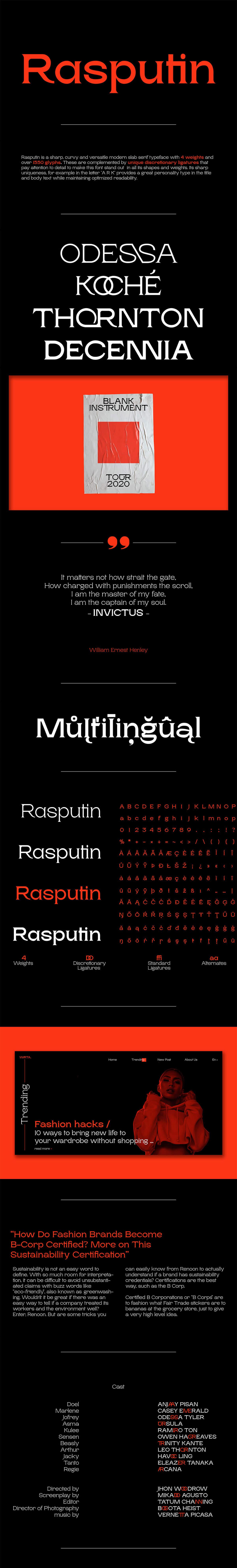 Free Rasputin Slab Serif Font