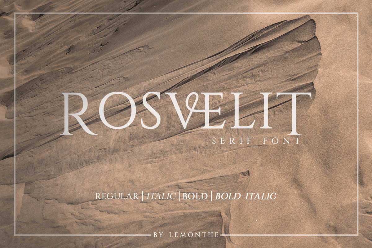 Free Rosvelit Serif Font Family