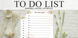 Free Simple To Do List Printable