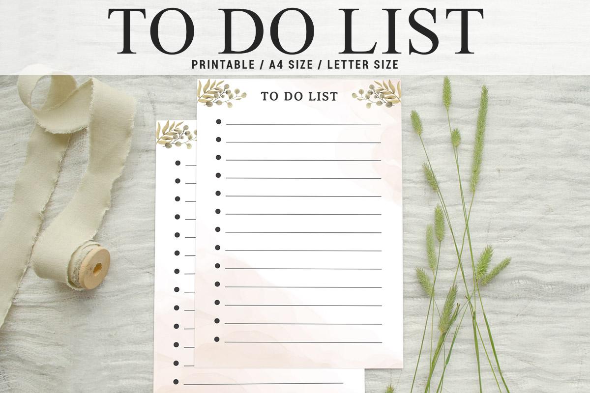 Free Simple To Do List Printable