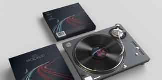 Free Vinyl Record Mockup V2