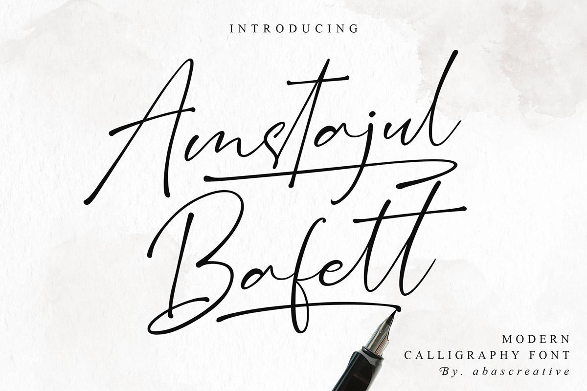 Free Amstajul Bufett Calligraphy Font