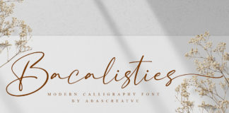 Free Bacalisties Calligraphy Font