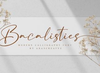 Free Bacalisties Calligraphy Font