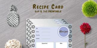 Free Decorative Recipe Template