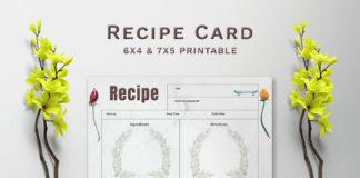 Free Greenery Recipe Card Template