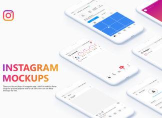 Free Instagram UI Mockups