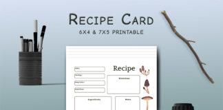 Free Mushroom Recipe Card Template