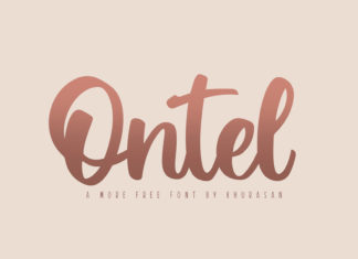 Free Ontel Script Font