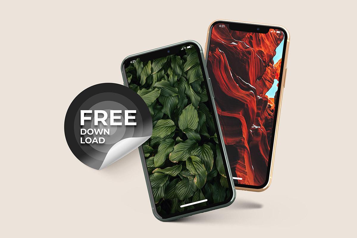 Free Phone 11 App Presentation Mockup