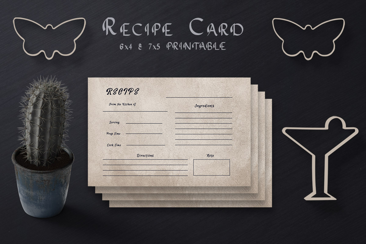 Free Tan Recipe Card Template