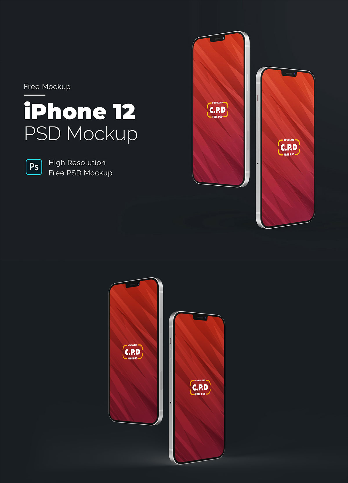 Free iPhone 12 Concept Mockup