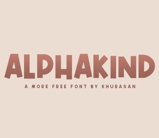 Free Alphakind Display Font