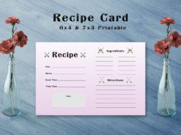 Free Arrow Recipe Card Template V1