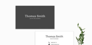 Free BW Minimal Business Card Template