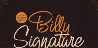 Free Billy Signature Script Font