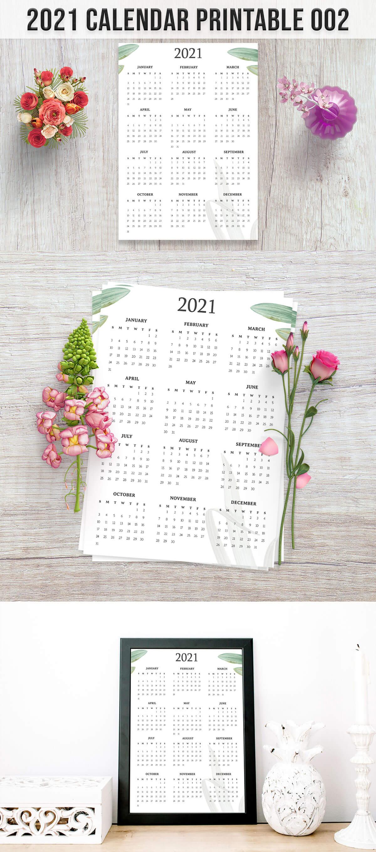Free Calendar 2021 Printable 002