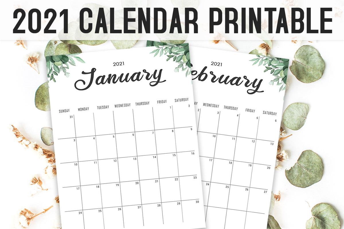 Free Calendar 2021 Printable Template ~ Creativetacos