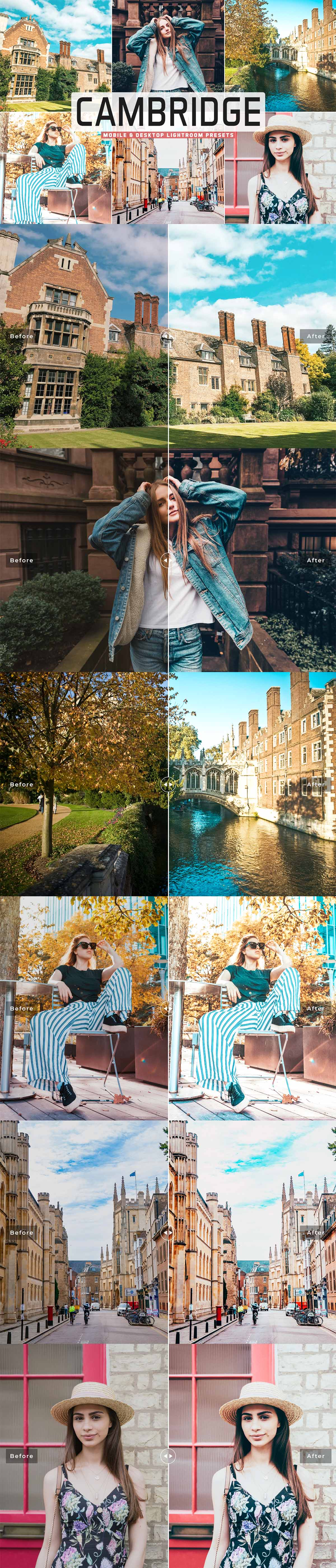 Free Cambridge Lightroom Presets
