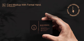 Free Card Mockup With Formal Hand