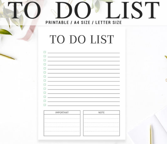 Free Minimal To Do List Printable V3