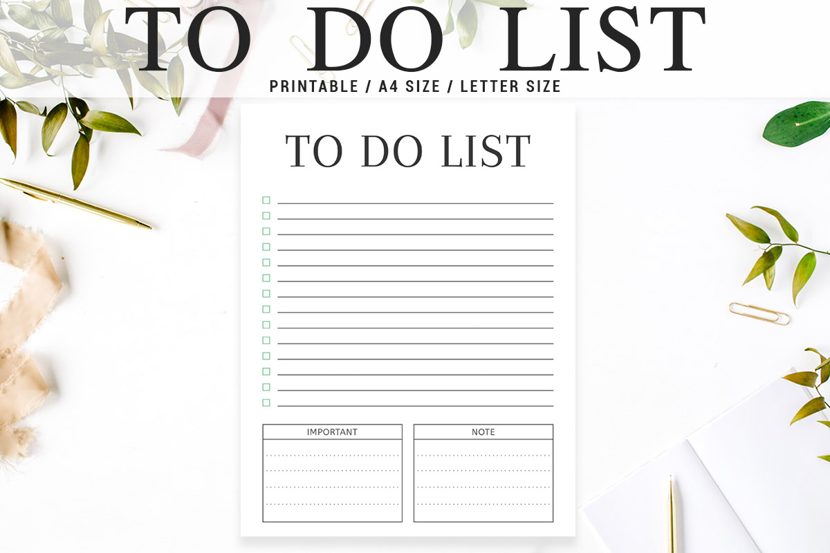 Free Minimal To Do List Printable V3