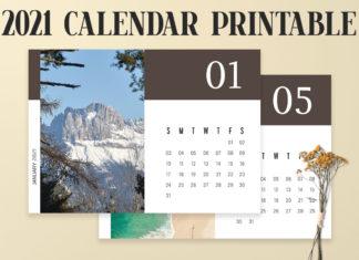 Free Modern Calendar 2021 Printable