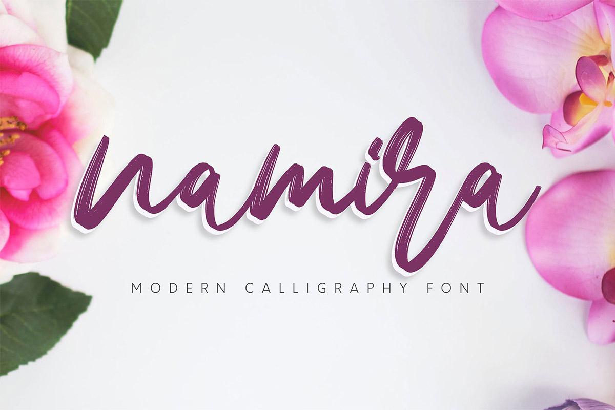 Free Namira Calligraphy Font