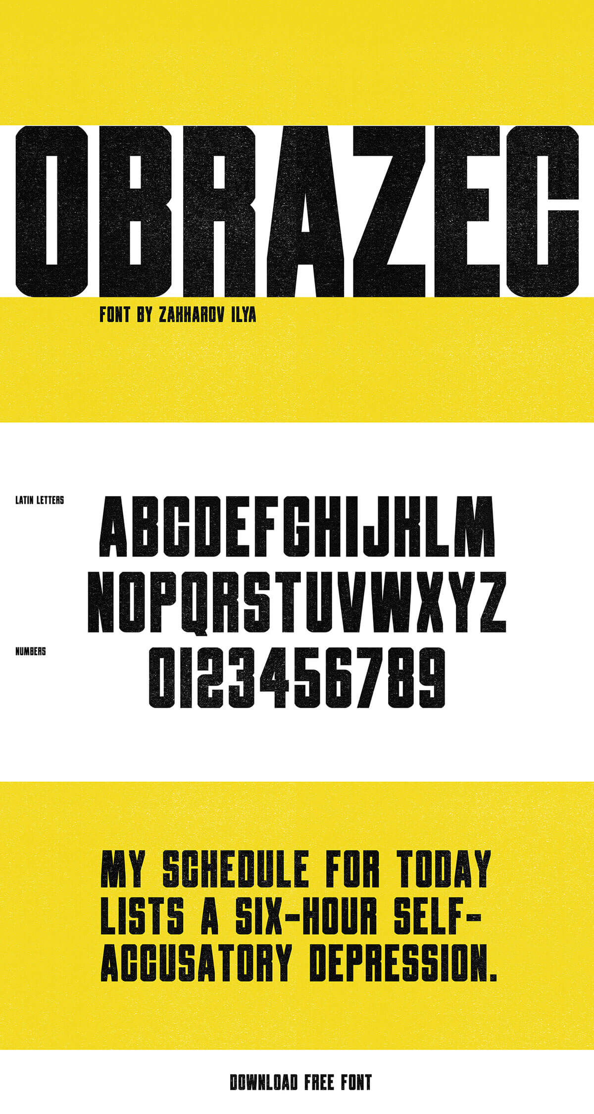 Free Obrazec Sans Serif Font