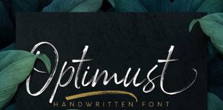 Free Optimust Handwritten Font